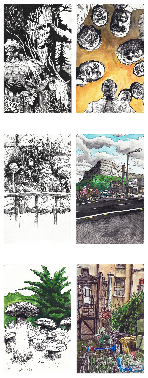 Sketchbook Illustration by  Mateusz Nowakowski via YouTheDesigner.com