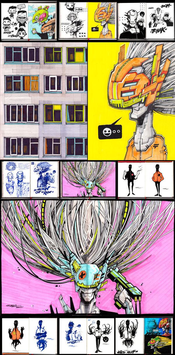 Sketchbook Illustrations by Artem Solop via YouTheDesigner.com