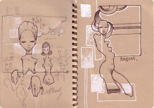 Sketchbook Illustration by Audrey Kawasaki via YouTheDesigner