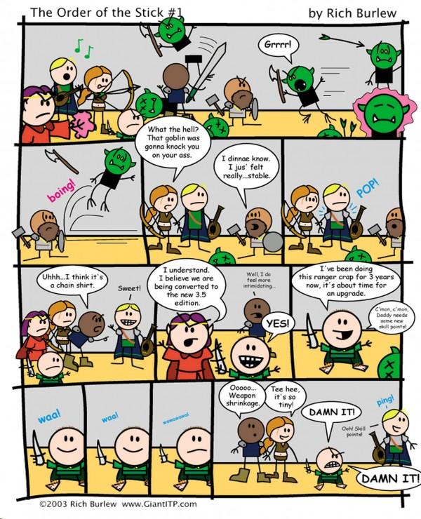 The Order of the Stick #1 by Rich Burlew via YouTheDesigner
