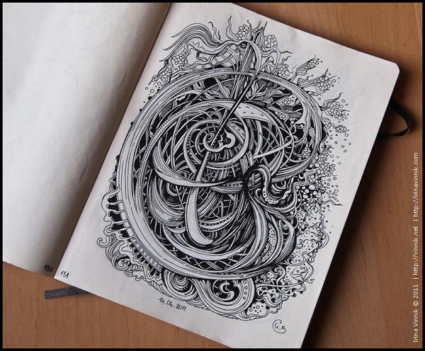 Sketchbook Illustration by Irina Vinnik  via YouTheDesigner.com