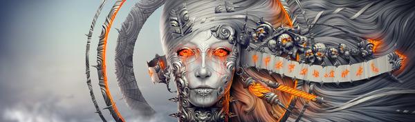 """Deionarra"" - Digital Art by Alexander Fedosov via YouTheDesigner"