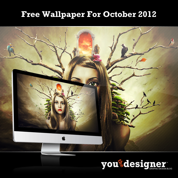 October 2012 Free Wallpaper by YouTheDesigner