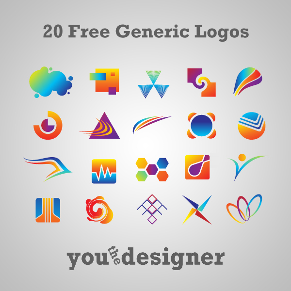 20 Free Generic Logos via YouTheDesigner.com