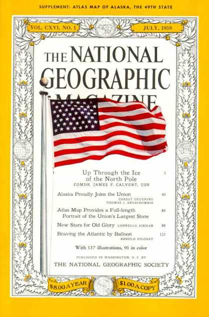 National Geographic Magazine July 1959 Issue via YouTheDesigner