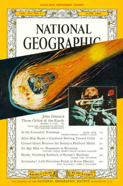 National Geographic Magazine June 1962 Issue via YouTheDesigner