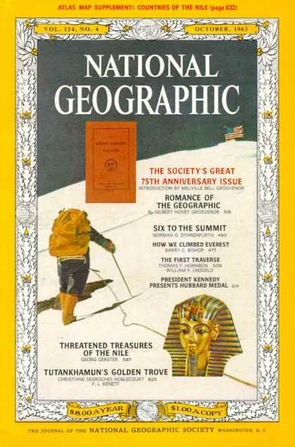 National Geographic October 1963 Issue via YouTheDesigner
