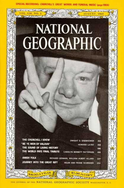National Geographic August 1965 Issue via YouTheDesigner