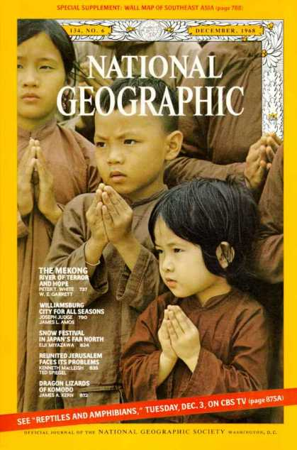 National Geographic December 1968 Issue via YoutheDesigner