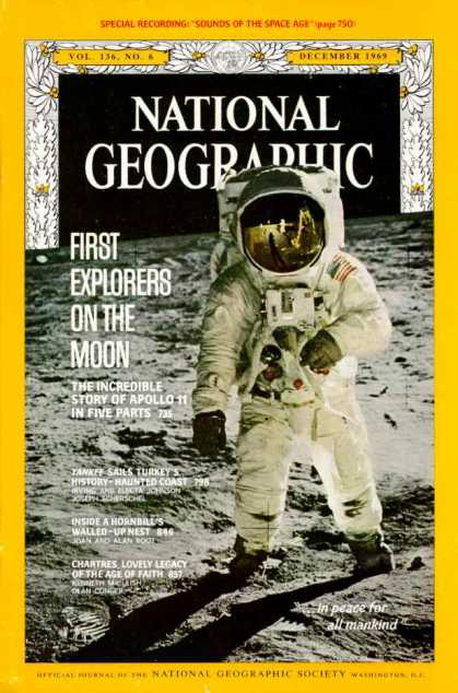 National Geographic December 1969 Issue via YouTheDesigner