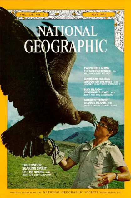 National Geograohic May 1971 Issue via YouTheDesigner