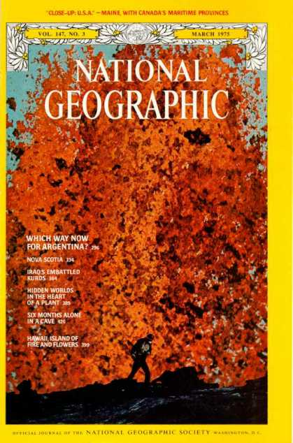 National Geographic March 1975 Issue via YouTheDesigner