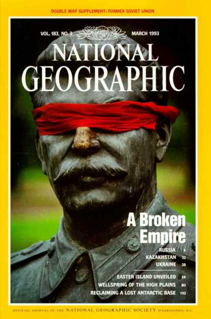 National Geographic March 1993 Issue via YouTheDesigner