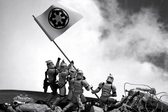 """Troopers Raising the Flag on Iwo Jima""  - Photography by David Eger"