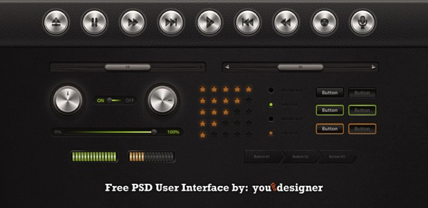 User Interface Template by YouTheDesigner