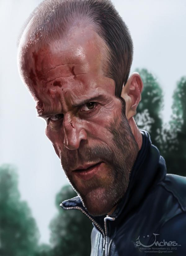 Jason Statham - caricature by Alex Novoseltsev