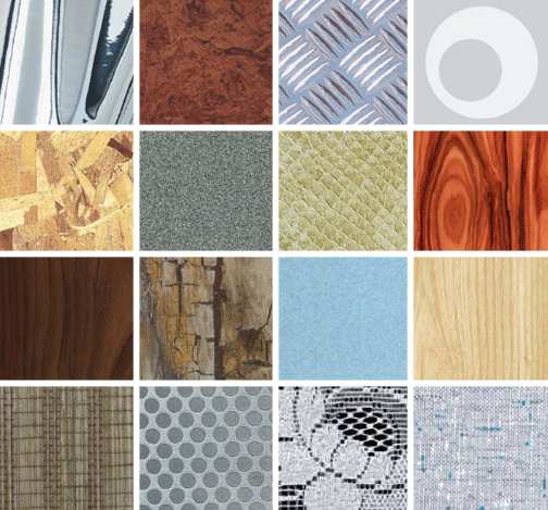 Various contact paper designs