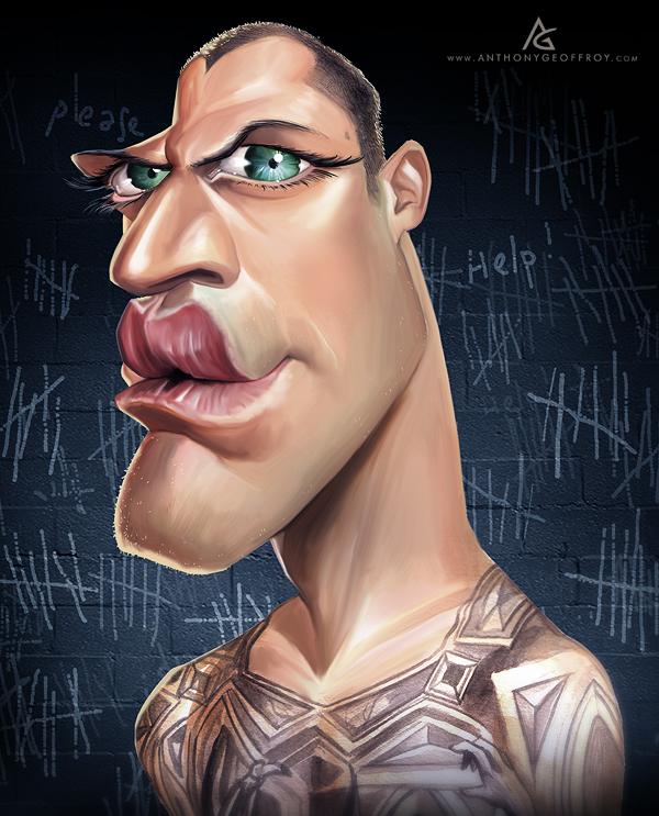 Michael Scofield from prison Break - caricature by Anthony Geoffroy