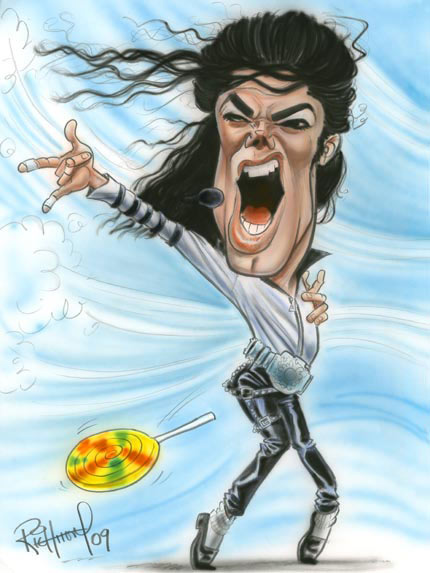 Michael Jackson - caricature by Tom Richmond