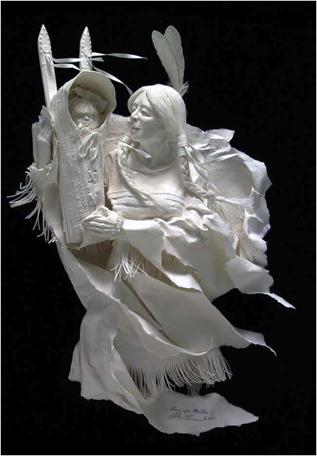 Cast Paper Sculpture by Allen & Patty Eckman via YouTheDesigner