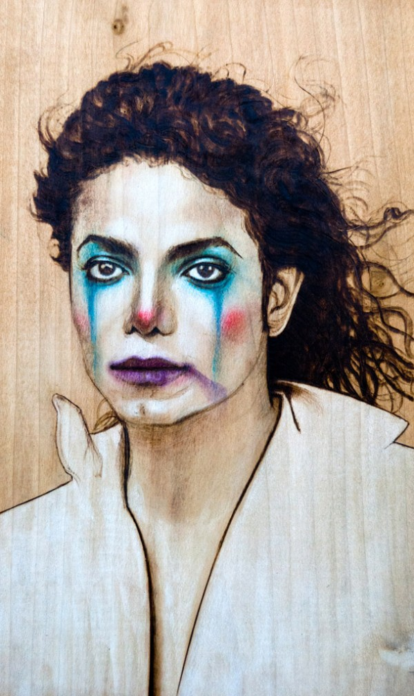"""Michael"" - pyrography by Fay Helfer"