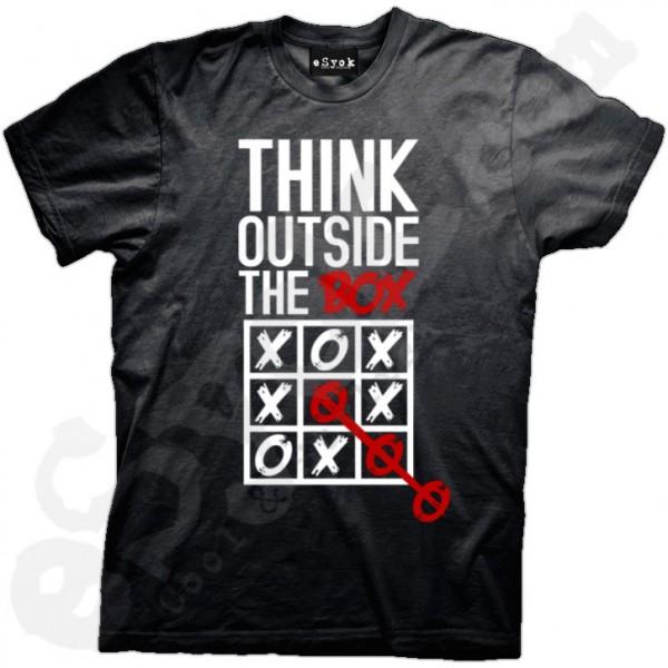 think outside the box t shirt design via esyok - Designs For T Shirts Ideas