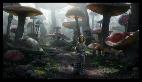 """Concept Art for """"Alice in Wonderland"""" by Dylan Cole"""