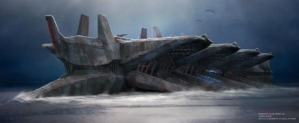 "Concept Art for ""Battleship"" by Josh Nizzi"