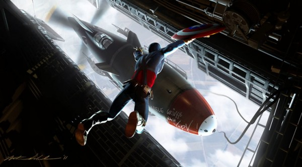 Concept Art and Illustration for Captain America: The First Avenger by Nathan Schroeder