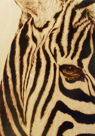 """""""Don't Judge Me"""" - pyrography by Julie Bender"""