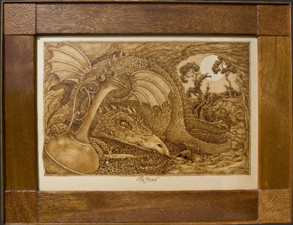 """The Hoard"" – pyrography by David Stanley"