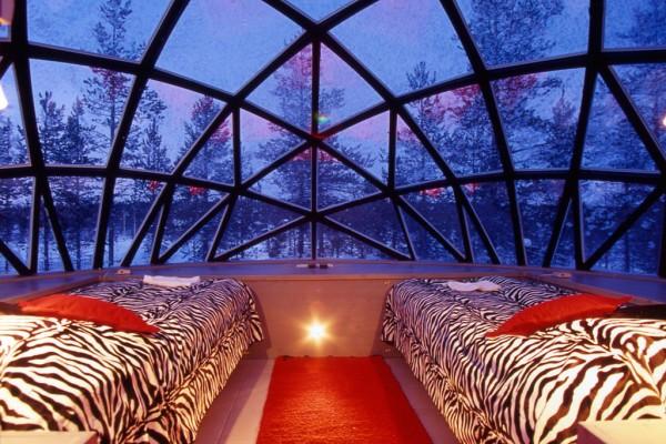 glass igloo interior via You the Designer