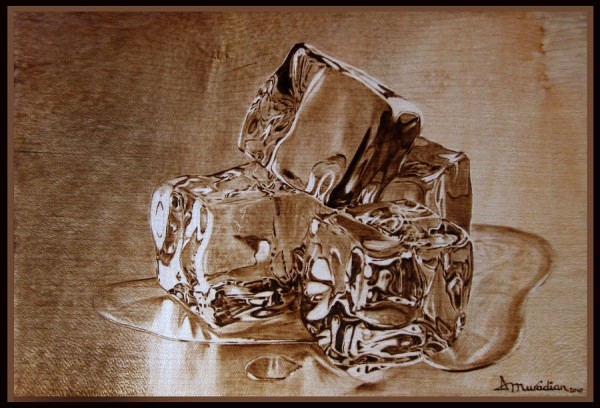 """Meltdown"" - pyrography by Muradino"