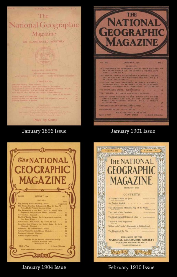 National Geographic Magazine Cover Evolution via YouTheDesigner
