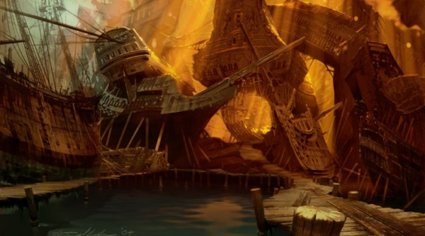 Concept Art and Illustration for Pirates of the Caribbean by Nathan Schroeder
