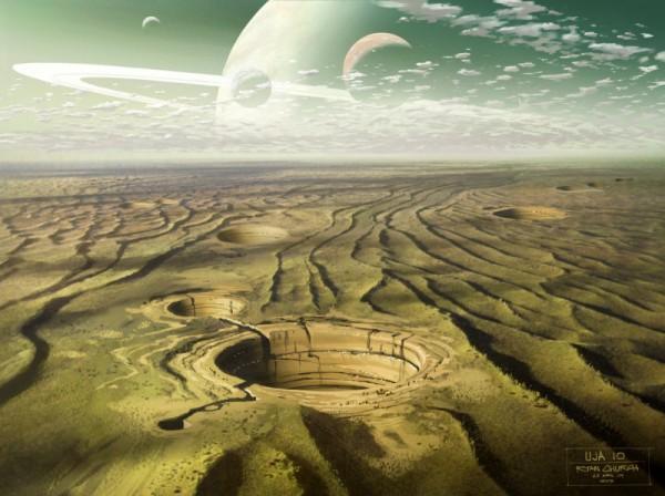 "Concept Art for ""Star Wars III"" by Ryan Church"