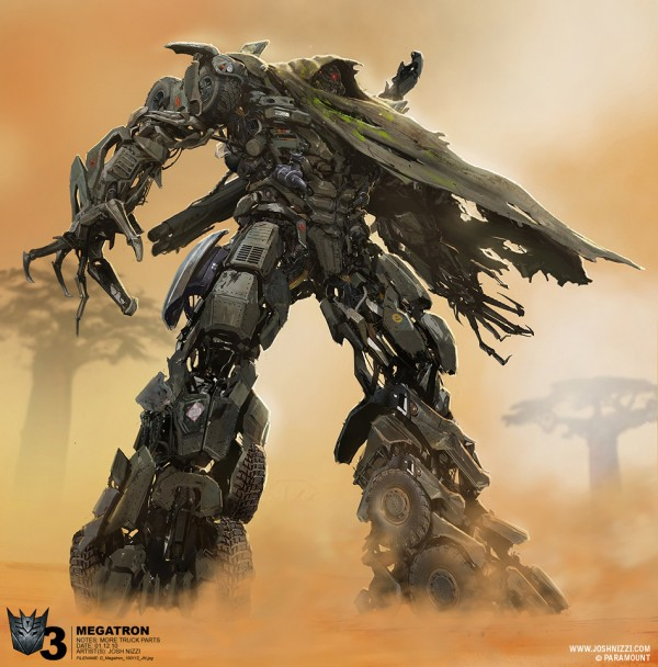 """Concept Art for """"Transformers: Dark of the Moon"""" by Josh Nizzi"""