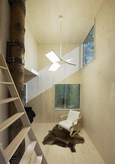 tree hotel interior via You The Designer