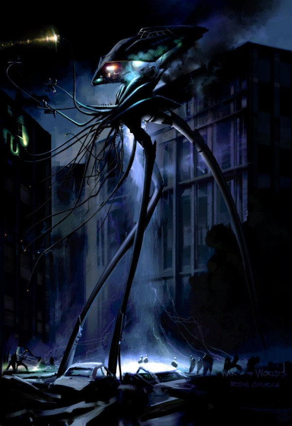 """Concept Art for """"War of the Worlds"""" by Ryan Church"""