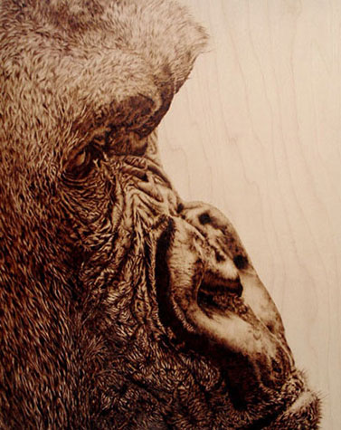 """Wise Man"" - pyrography by Julie Bender"