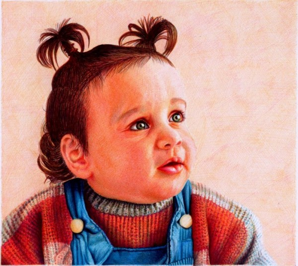 """""""Baby Girl"""" - Ballpoint Pen Artwork by Samuel Silva"""