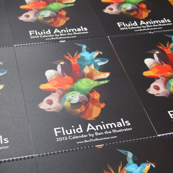 Fluid Animals 2013 Calendar by Ben O'Brien via You The Designer