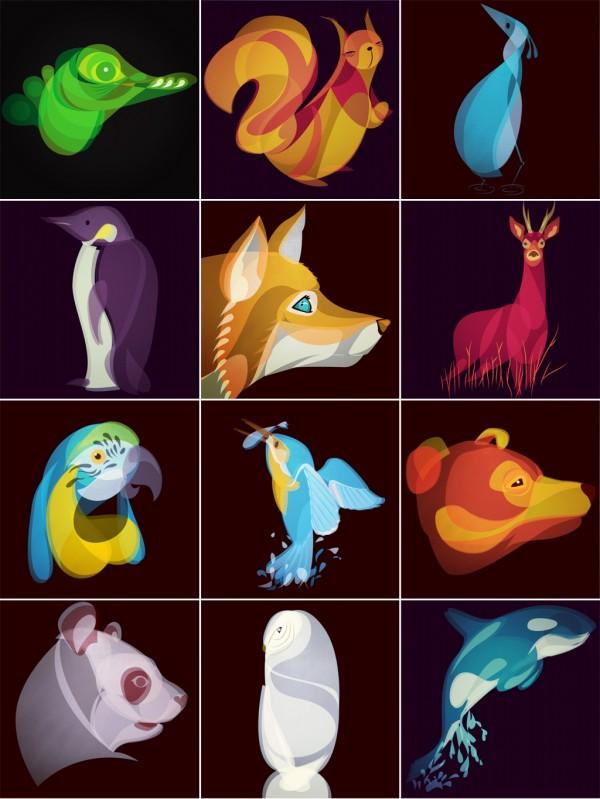 Fluid Animals Illustrations by Ben O'Brien via You The Designer
