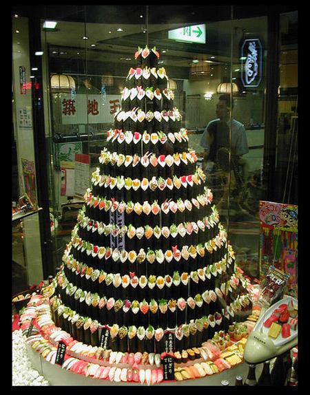 Sushi Christmas Tree via You The Designer