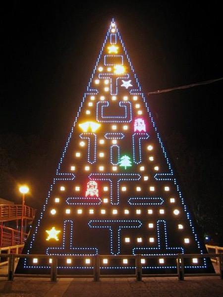 Pacman Christmas Tree via You The Designer