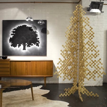 Recycled cardboard tree via You The Designer