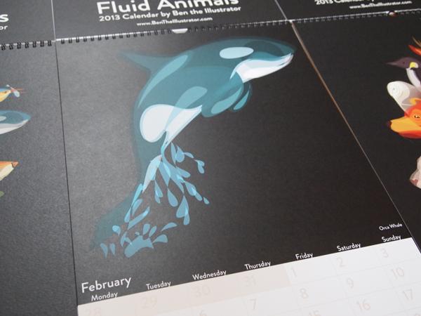 Fluid Animals 2013 Calendar by Ben O'Brien via You The Designer