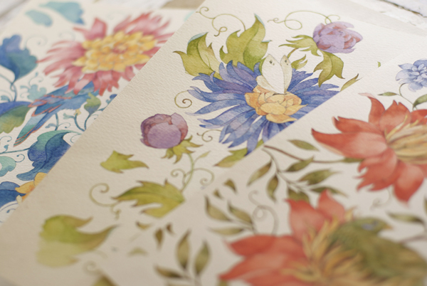 The Lost World Watercolor Patterns by Tetiana Kartasheva via YouTheDesigner