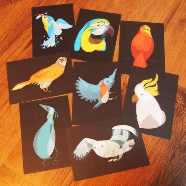 """Air"" Fluid Animals postcards set by Ben O'Brien via You The Designer"