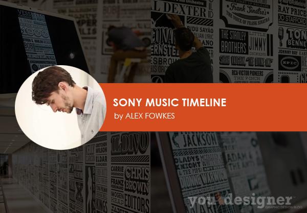 Sony Music Timeline by Alex Fowkes